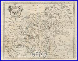 Antique Map-FRANCE-BERRY-Mercator-1600
