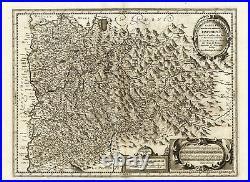 Antique Map-FRANCE-DAUPHINE-GRENOBLE-Hondius-1636