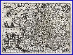 Antique Map-FRANCE-GALLIAE-Hondius-Janssonius-1636