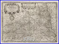Antique Map-FRANCE-LANGUEDOC-Hondius-Janssonius-1636