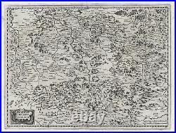 Antique Map-FRANCE-LORRAINE-LOTHARINGEN-Hondius-1636