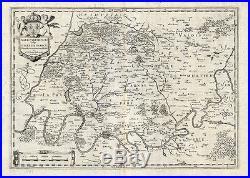 Antique Map-FRANCE-PARIS-ISLE DE FRANCE-Hondius-1636