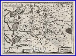 Antique Map-FRANCE-SAINTONGE-Hondius-Janssonius-1636