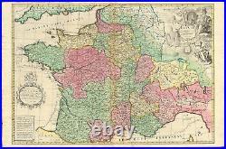Antique Map-FRANCE-SWITZERLAND-BELGIUM-LUXEMBOURG-ITALY-Senex-1708