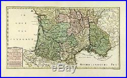 Antique Map- France -provence -isaac Tirion- 1757
