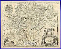 Antique Map-ILE DE FRANCE-PARIS-De Templeux-1670