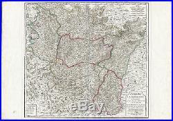 Antique Map-LORRAINE REGION-MESSIN-ALSACE-FRANCE-Vaugondy-Delamarche-1793