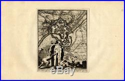 Antique Map-MENEN-FRANCE-FORTRESS-BELGIUM-Weege-1753