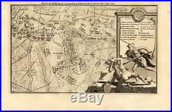 Antique Map-MONS-MAUBEUGE-BELGIUM-FRANCE-Weege-1753