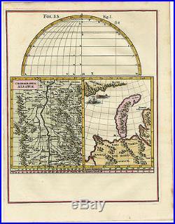 Antique Map-NOVAYA ZEMLYA-ALSACE-GERMANY-FRANCE-RUSSIA-Scherer-c. 1700