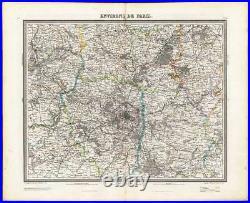 Antique Map-PARIS-FRANCE-Tardieu-Vuillemin-1863