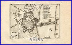 Antique Map-Plan-DUNKERQUE-DUNKIRK-FRANCE-Beaulieu-1667