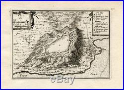 Antique Map-Plan-MONTMEDY-FRANCE-Beaulieu-1667