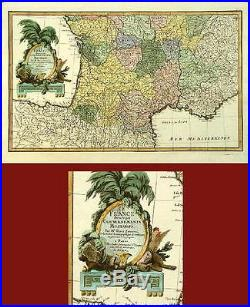 Antique Map- Southern France Rizzi Zannoni- 1762