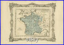Antique Map of France at the end of the Ministry of Cardinal Mazarin by Zannoni