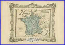 Antique Map of France at the end of the reign of Henry IV by Zannoni (1765)