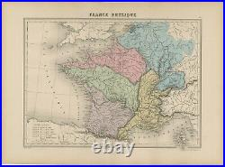 Antique Map of France by Migeon (1880)