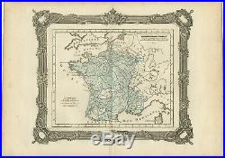 Antique Map of France under the reign of Francois II by Zannoni (1765)