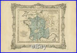 Antique Map of France under the reign of Francois I by Zannoni (1765)