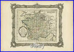 Antique Map of France under the reign of Henry III by Zannoni (1765)