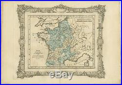 Antique Map of France under the reign of Philip IV by Zannoni (1765)