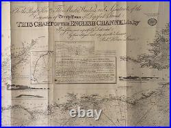 Antique Nautical Map of the English Channel by R. H. Laurie