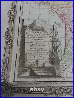Antique Original 1786 Kingdom of France Ancien Regime Engraved Map Brion/Desnos