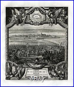 Antique Print-DEPARTURE-GARRISON-DOLE-FRANCE-Colin-c. 1679