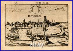 Antique Print-DUNKIRK-FRANCE-Guicciardini-1613