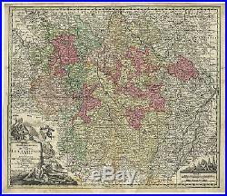 Antique Print-FRANCE-LORRAINE-DUCATUS LOTHARINGIAE-Seutter-c. 1745