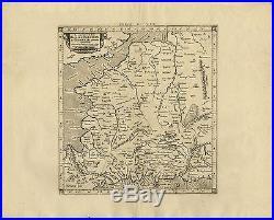 Antique Print-GALLIA-FRANCE-BELGIUM-Ptolemy-Mercator-1698