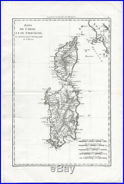 Antique Print-ITALY-FRANCE-SARDINIA-CORSICA-Bonne-1787