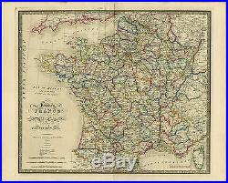 Antique Print-KINGDOM OF FRANCE-Wyld-1854