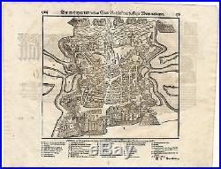 Antique Print-LA ROCHELLE-FRANCE-BAY OF BISCAY-Munster-1598