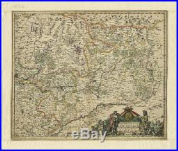 Antique Print-LUXEMBOURG-FRANCE-LORRAINE-LOTHARINGIA-Allard-c. 1680
