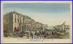 Antique Print-OPTICAL PRINT-MARSEILLES-FRANCE-PLAGUE-PORT-Anonymous-c. 1770