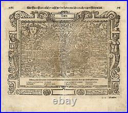 Antique Print-PARIS-FRANCE-Munster-1598