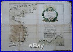 Antique Print-SEA CHART-FRANCE-CHANNEL-ENGLAND-SPAIN-Zannoni-Desnos-1778