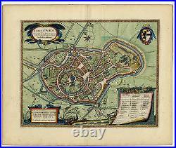 Antique Print-SINT WINOKSBERGEN-FRANCE-TOWN PLAN-Fontaine-Blaeu-1649