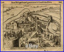 Antique Print-VALENCIENNES-FRANCE-WAR-Baudartius-1616