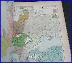 Antique Rare Old History Book El Dorado, France + more 1895 Maps Scarce Gilt