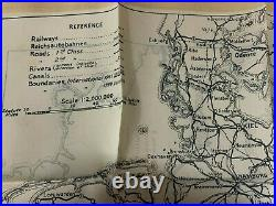 Antique Royal Air Force WWII World War 2 Silk Double-Sided Map France/Germany