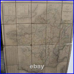 Antique linen backed map of France, Dufour 1832