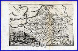 Antique map-ANCIENT BELGIUM-NETHERLANDS-FRANCE-GALLIA BELGICA-Cellarius-1731