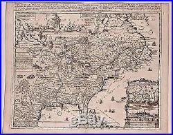 Antique map, Carte de la Nouvelle France