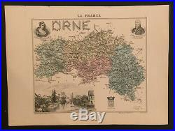 Antique map, La France Orne
