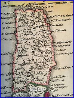 Antique original map Corsica / L'isle de Corse from J. ELLIS sculp. T 1768 /1780