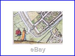 Arras Franc Antique Map Atrecht Guicciardini 1613