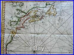 Atlantic Ocean 13 Colonies Spain Caribbean Sea France Canaries 1749 Bellin map