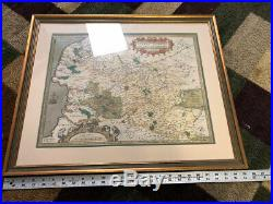 Atrebatum Regio Nis Vera Descriptio Antique France Map